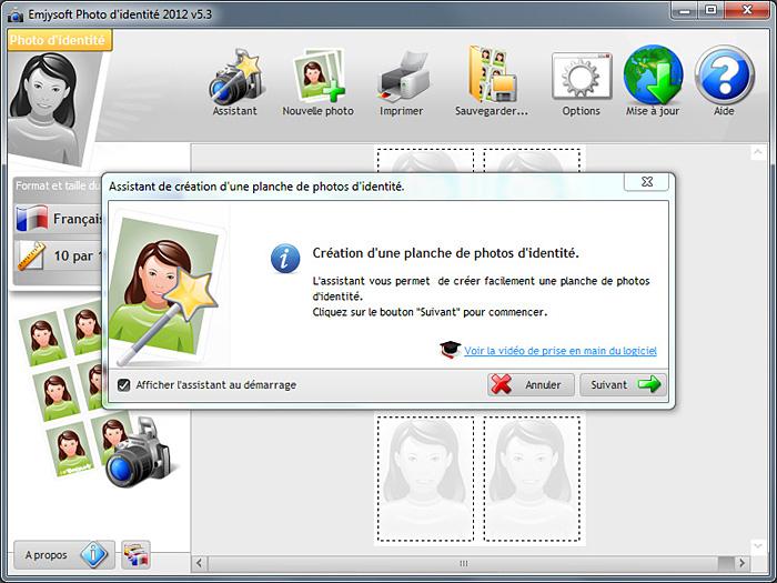 logiciel de photo d'identité